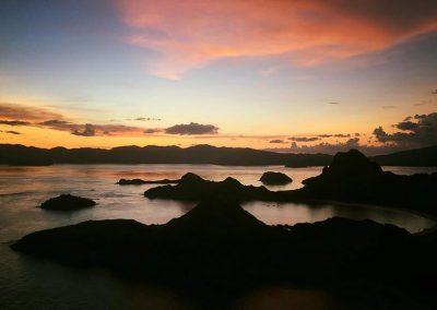 komodo island padar sunset